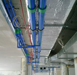 Ringleitung zur Kälteversorgung im Bürogebäude Mosse Palais Potsdamer Platz Berlin