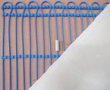 Instandsetzung von beschädigten Kapillarrohrmatten mit Spezialmuffe